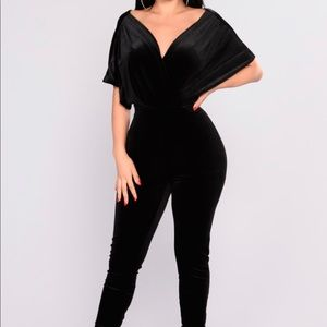 Angel Velvet Jumpsuit - Size Medium
